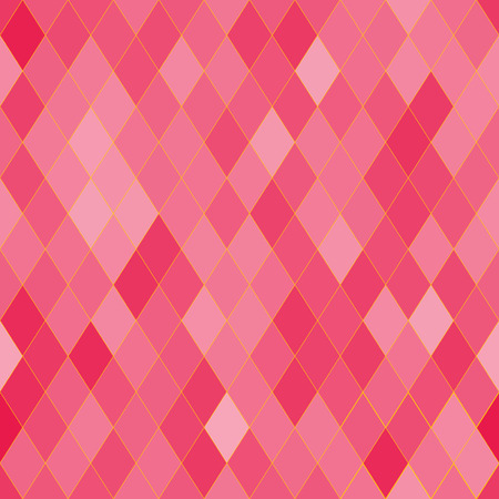 rhombic: Vector seamless pattern with rhombs. Abstract bright pink texture. Geometrical background. Monochrome backdrop.