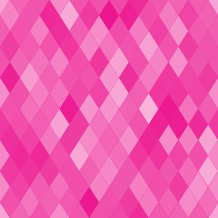 brindled: Vector seamless pattern with rhombs. Abstract bright pink texture. Geometrical background. Monochrome backdrop.