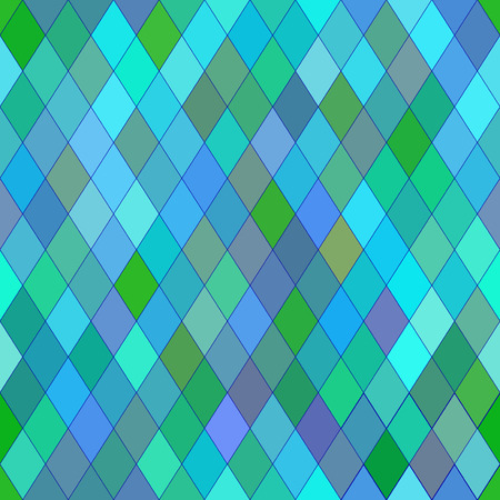 cold colors: Vector seamless pattern with rhombs. Abstract blue texture. Geometrical background. Cold colors.