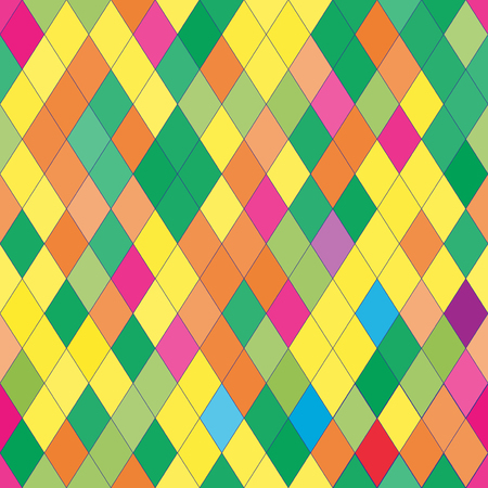 rhombic: Vector seamless pattern with rhombs. Abstract bright texture. Geometrical background. Colorful backdrop. Illustration