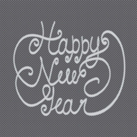 happy new year greeting card hand lettering handmade calligraphy hny vector illustration