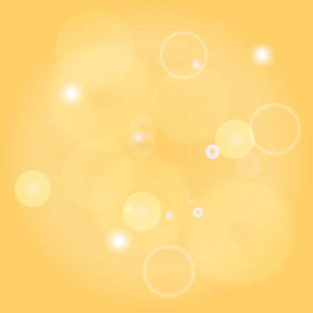 spot lit: Sparkle circles abstract vector background illustration. Abstract shiny glitters, Yellow texture with round elements. Monochrome backdrop.