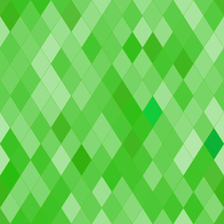 brindled: Vector seamless pattern with rhombs. Abstract bright green texture. Geometrical background. Monochrome backdrop.