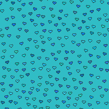 tiny: Seamless pattern with tiny hearts. Abstract repeating. Cute backdrop. Blue background. Template for Valentines, Mothers Day, wedding, scrapbook, surface textures. Vector illustration.