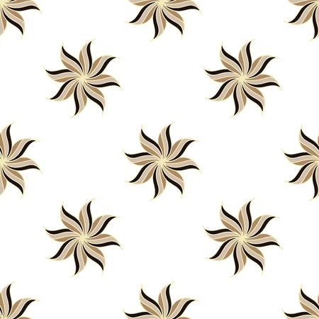 Stilisierte Sternanis nahtlose Muster. Hellem Hintergrund. Abstrakte Beschaffenheit. Vektor-Illustration. Vektorgrafik