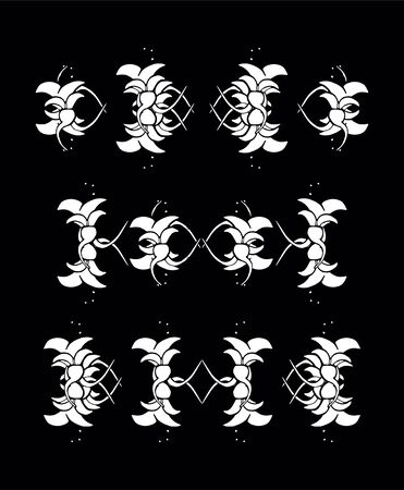 Set of vintage ornaments. Frames, borders, dividers. Ornate decorative design elements for invitation, congratulation and greeting card. Vector Ornament. Hand-drawn Filigree decoration Çizim