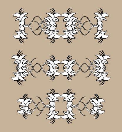 Set of vintage ornaments. Frames, borders, dividers. Ornate decorative design elements for invitation, congratulation and greeting card. Vector Ornament. Hand-drawn Filigree decoration.