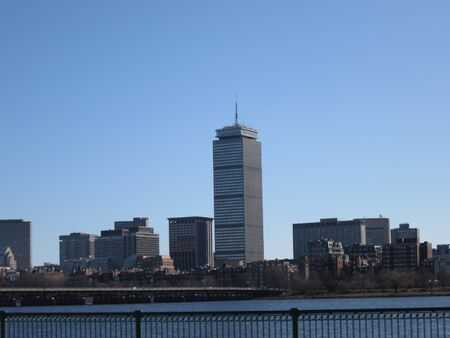 prudential: Prudential Center across the Charles River