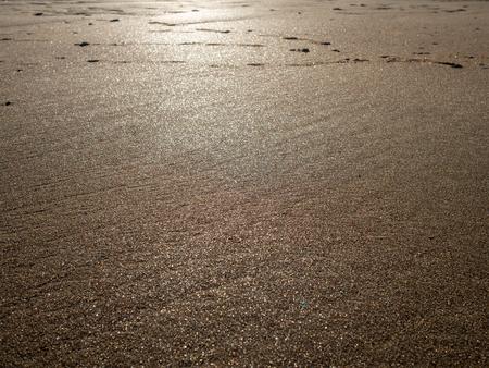 Sandy beach, Kent, with evening sun on it