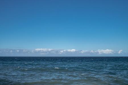 Blue sea and horizon in Havana Cuba