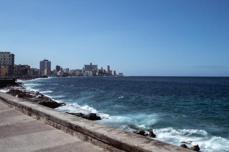 City of Havana, Cuba along the coast Stock Photo