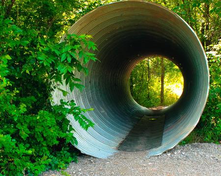culvert: Huge Culvert Walking Path