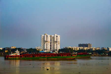 A view of the river Hooghly in Kolkata