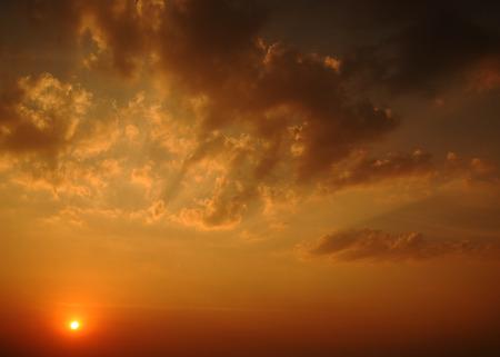 Sunrise And Cloud photo
