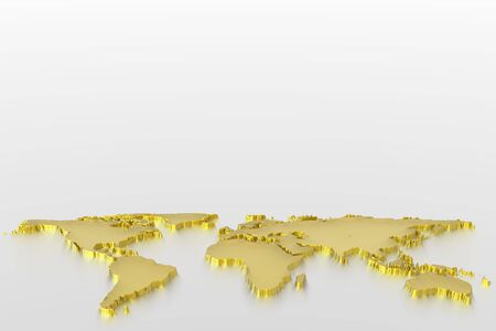 World map in gold photo