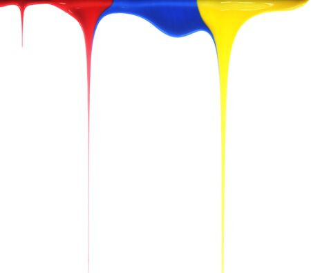 Pouring primary colors Stock Photo - 2597054