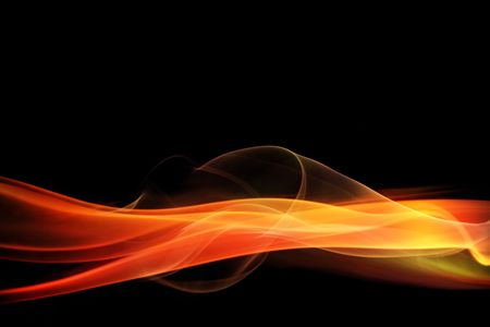 black smoke: Glowing red abstract background