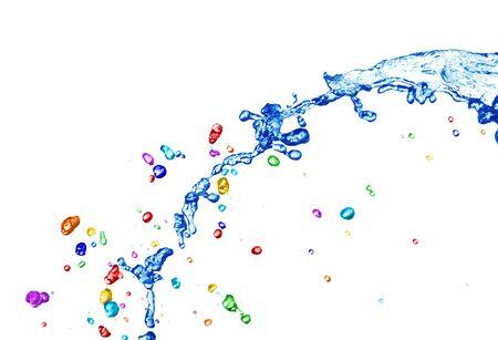 Kleurrijke water