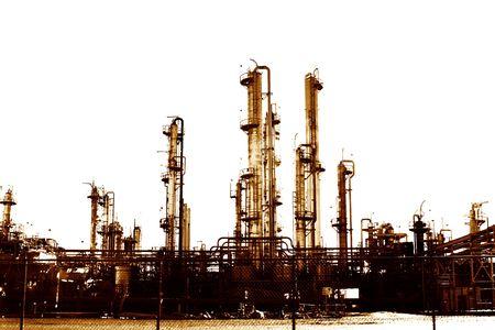 Factory in sepia tone photo