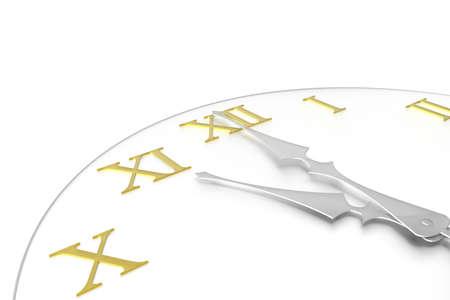 Roman numeral clock photo
