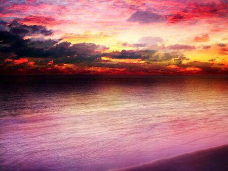 hdr background: Beautiful bright sunset