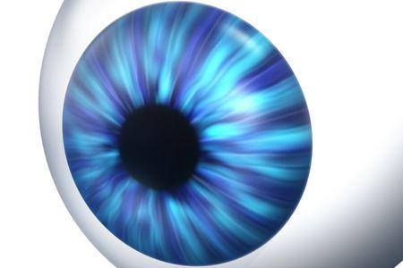 dilate: 3d render of an eye