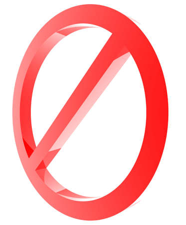 abstain: Red forbidden sign