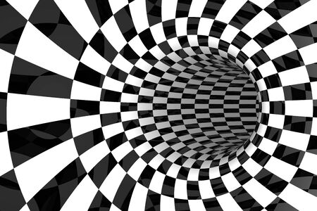 reiteration: Black & White tiled abstract background