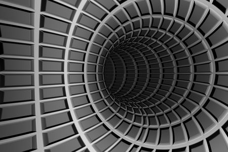 Metal tunnel abstract background photo