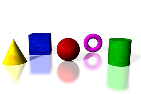 basic care: Basic shapes in bright colors