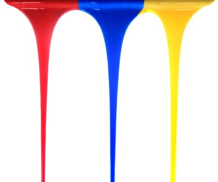 Pouring primary colors Stock Photo - 2676253