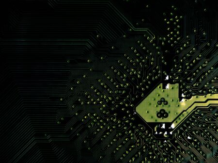 micro drive: detailed circuit board close-up Stock Photo