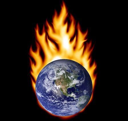 fire hazard: Earth on fire