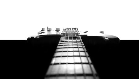 Electric guitar in black & white