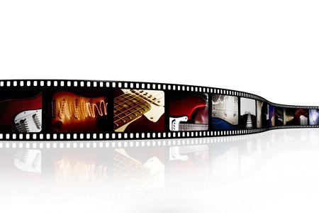 digital music: Film strip Stock Photo