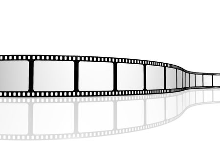 negative spaces: Blank film strip Stock Photo