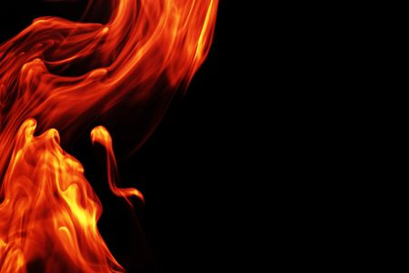 Flowing fire background photo