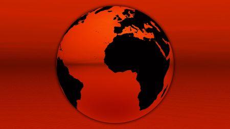 Red earth on horizon photo