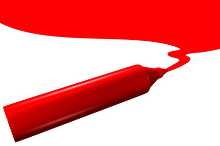 Red marker drawing Stock Photo