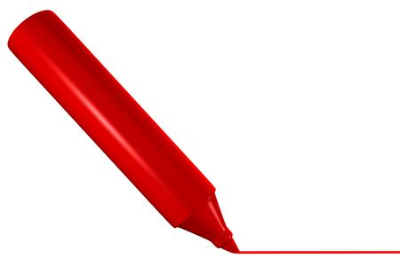 Red marker drawing line Stock fotó - 3097334