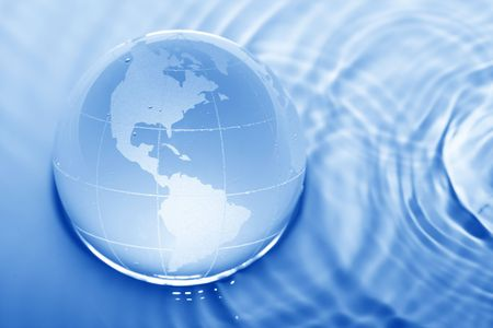 mankind: Earth in water Stock Photo