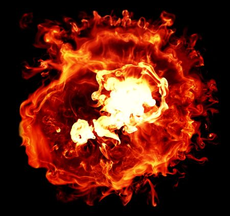 combust: Explosions isolated on black