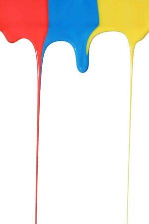 Pouring primary colors Stock Photo - 3324019