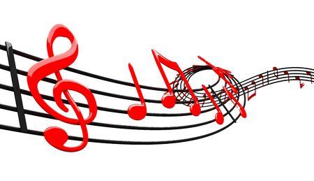 musical notation: Music design Stock Photo