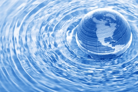 Earth in water photo