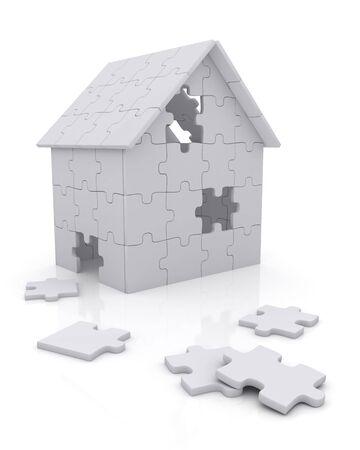 House built out of puzzle pieces