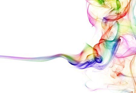 lines: Colorful smoke