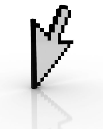 3d cursor: 3d cursor Stock Photo