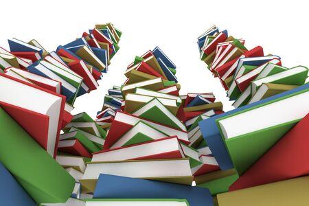 encyclopedias: Huge stack of books