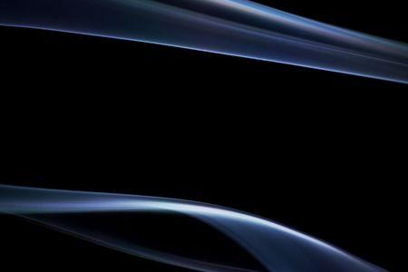 smooth: Smooth blue smoke on black